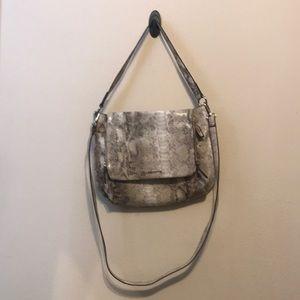 Beautiful faux snakeskin purse.